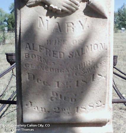 SALMON, MARY - Fremont County, Colorado   MARY SALMON - Colorado Gravestone Photos