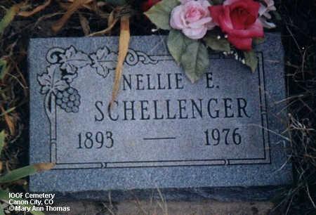 SCHELLENGER, NELLIE E. - Fremont County, Colorado   NELLIE E. SCHELLENGER - Colorado Gravestone Photos