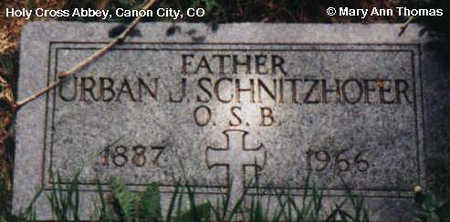 SCHNITZHOFER, URBAN J. - Fremont County, Colorado | URBAN J. SCHNITZHOFER - Colorado Gravestone Photos