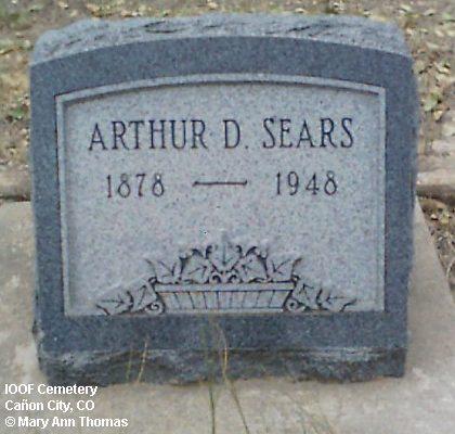 SEARS, ARTHUR D. - Fremont County, Colorado | ARTHUR D. SEARS - Colorado Gravestone Photos