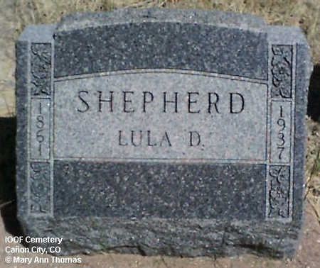 SHEPHERD, LULU D. - Fremont County, Colorado | LULU D. SHEPHERD - Colorado Gravestone Photos