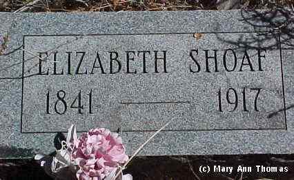 SHOAF, ELIZABETH - Fremont County, Colorado | ELIZABETH SHOAF - Colorado Gravestone Photos