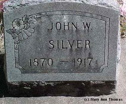 SILVER, JOHN W. - Fremont County, Colorado | JOHN W. SILVER - Colorado Gravestone Photos