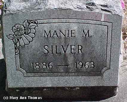 SILVER, MANIE M. - Fremont County, Colorado | MANIE M. SILVER - Colorado Gravestone Photos