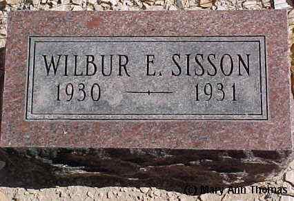 SISSON, WILBUR E. - Fremont County, Colorado   WILBUR E. SISSON - Colorado Gravestone Photos