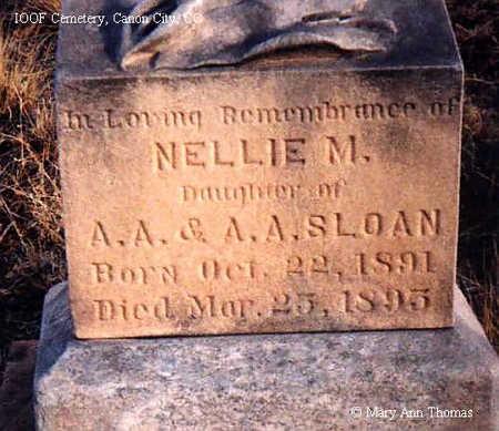 SLOAN, NELLIE M. - Fremont County, Colorado   NELLIE M. SLOAN - Colorado Gravestone Photos