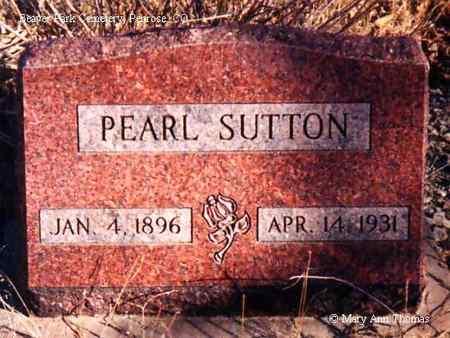 SUTTON, PEARL - Fremont County, Colorado | PEARL SUTTON - Colorado Gravestone Photos
