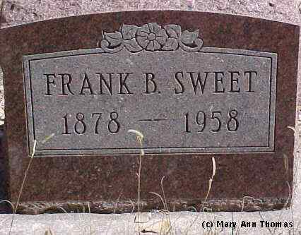 SWEET, FRANK B. - Fremont County, Colorado | FRANK B. SWEET - Colorado Gravestone Photos
