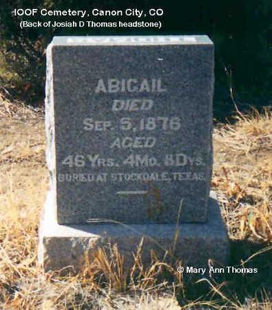 THOMAS, ABIGAIL - Fremont County, Colorado | ABIGAIL THOMAS - Colorado Gravestone Photos