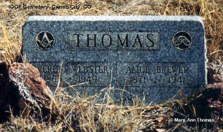 BREWER THOMAS, ALICE - Fremont County, Colorado | ALICE BREWER THOMAS - Colorado Gravestone Photos