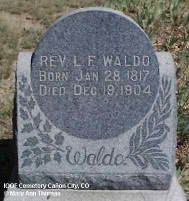 WALDO, REV. L. F. - Fremont County, Colorado | REV. L. F. WALDO - Colorado Gravestone Photos