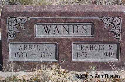 WANDS, ANNIE L. - Fremont County, Colorado | ANNIE L. WANDS - Colorado Gravestone Photos