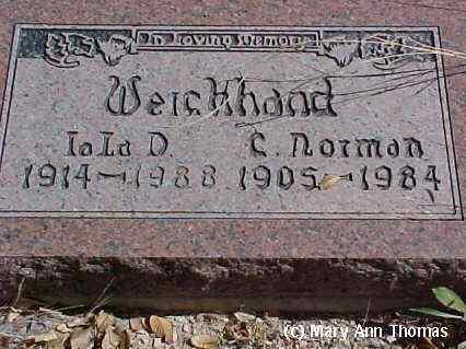 WEICHHAND, IOLA D. - Fremont County, Colorado | IOLA D. WEICHHAND - Colorado Gravestone Photos