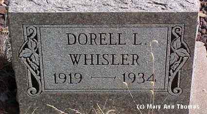 WHISLER, DORELL L. - Fremont County, Colorado   DORELL L. WHISLER - Colorado Gravestone Photos