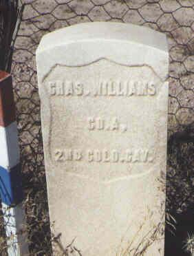 WILLIAMS, CHAS. - Fremont County, Colorado | CHAS. WILLIAMS - Colorado Gravestone Photos