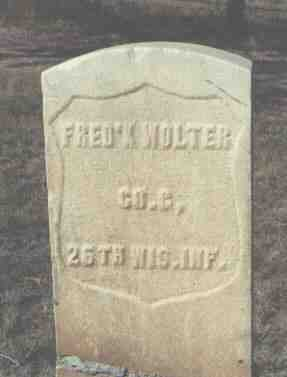 WOLTER, FRED'K - Fremont County, Colorado | FRED'K WOLTER - Colorado Gravestone Photos