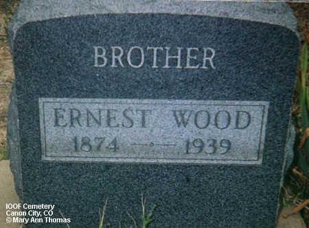 WOOD, ERNEST - Fremont County, Colorado | ERNEST WOOD - Colorado Gravestone Photos