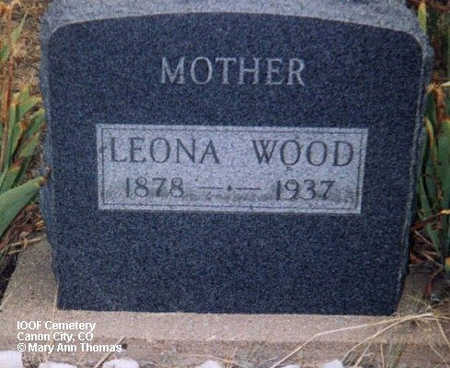 WOOD, LEONA - Fremont County, Colorado | LEONA WOOD - Colorado Gravestone Photos