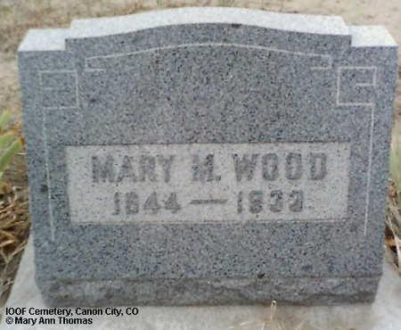 WOOD, MARY M. - Fremont County, Colorado | MARY M. WOOD - Colorado Gravestone Photos