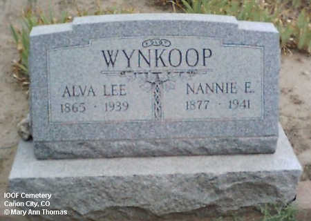 WYNKOOP, NANNIE E. - Fremont County, Colorado | NANNIE E. WYNKOOP - Colorado Gravestone Photos