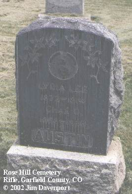 AUSTIN, LYDIA LEE - Garfield County, Colorado | LYDIA LEE AUSTIN - Colorado Gravestone Photos