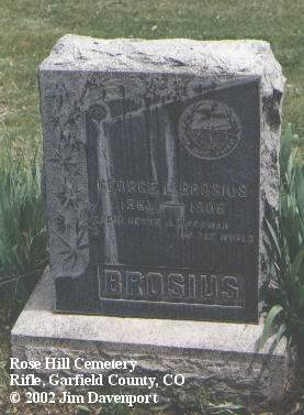 BROSIUS, GEORGE L. - Garfield County, Colorado | GEORGE L. BROSIUS - Colorado Gravestone Photos
