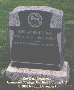 BRUTCHER, ROBERT - Garfield County, Colorado | ROBERT BRUTCHER - Colorado Gravestone Photos