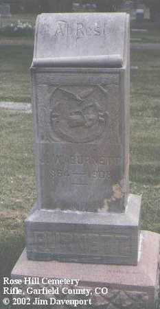 BURNETT, J. W. - Garfield County, Colorado | J. W. BURNETT - Colorado Gravestone Photos