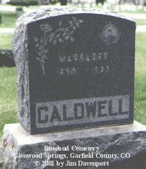 CALDWELL, MARGARET - Garfield County, Colorado | MARGARET CALDWELL - Colorado Gravestone Photos