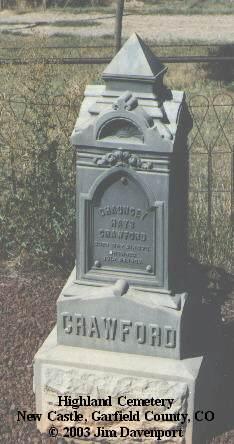 CRAWFORD, CHAUNCEY HAYS - Garfield County, Colorado | CHAUNCEY HAYS CRAWFORD - Colorado Gravestone Photos
