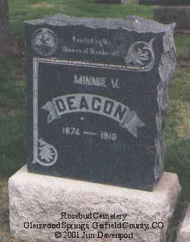 DEACON, MINNIE V. - Garfield County, Colorado | MINNIE V. DEACON - Colorado Gravestone Photos