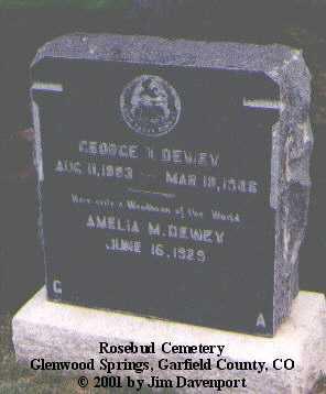 DEWEY, AMELIA M. - Garfield County, Colorado | AMELIA M. DEWEY - Colorado Gravestone Photos