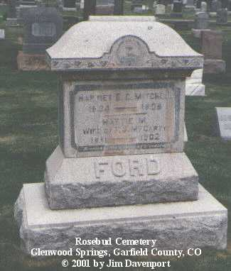 FORD, HARRIETT E. C. - Garfield County, Colorado | HARRIETT E. C. FORD - Colorado Gravestone Photos
