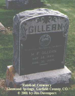 GILLERN, M. F. - Garfield County, Colorado | M. F. GILLERN - Colorado Gravestone Photos