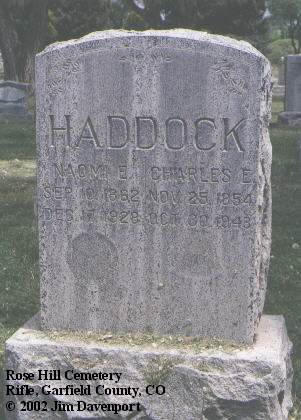 HADDOCK, CHARLES E. - Garfield County, Colorado | CHARLES E. HADDOCK - Colorado Gravestone Photos