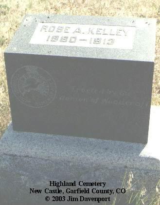 KELLEY, ROSE A. - Garfield County, Colorado | ROSE A. KELLEY - Colorado Gravestone Photos