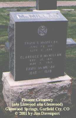 MCMILLAN, CLARENCE IO. - Garfield County, Colorado | CLARENCE IO. MCMILLAN - Colorado Gravestone Photos