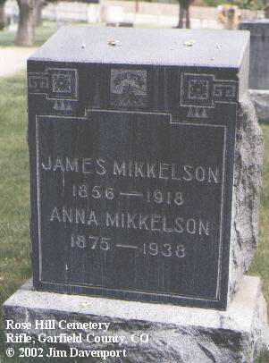 MIKKELSON, ANNA - Garfield County, Colorado | ANNA MIKKELSON - Colorado Gravestone Photos