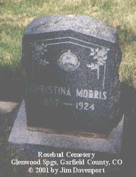MORRIS, CHRISTINA - Garfield County, Colorado   CHRISTINA MORRIS - Colorado Gravestone Photos
