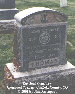 THOMAS, JOHN C. - Garfield County, Colorado | JOHN C. THOMAS - Colorado Gravestone Photos