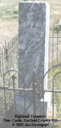 VAN LEUVEN, DUNHAM P. - Garfield County, Colorado   DUNHAM P. VAN LEUVEN - Colorado Gravestone Photos