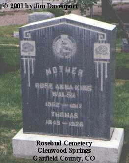 WALSH, THOMAS - Garfield County, Colorado | THOMAS WALSH - Colorado Gravestone Photos