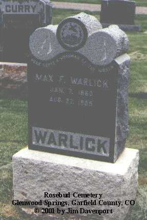 WARLICK, MAX F. - Garfield County, Colorado | MAX F. WARLICK - Colorado Gravestone Photos