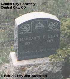 BEAN, MARGARET E. - Gilpin County, Colorado | MARGARET E. BEAN - Colorado Gravestone Photos