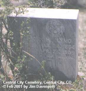 CLYMO, JOHN H. - Gilpin County, Colorado | JOHN H. CLYMO - Colorado Gravestone Photos