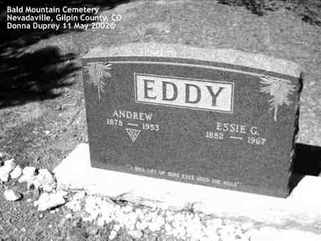 EDDY, ANDREW - Gilpin County, Colorado | ANDREW EDDY - Colorado Gravestone Photos