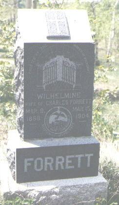 FORRETT, WILHELMINE - Gilpin County, Colorado   WILHELMINE FORRETT - Colorado Gravestone Photos