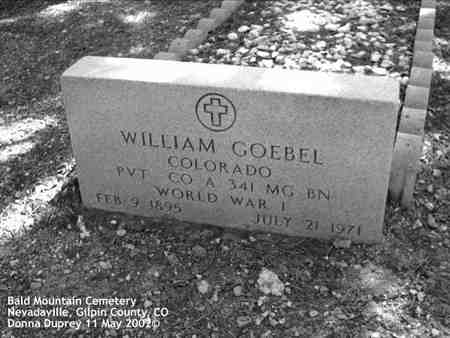 GOEBEL, WILLIAM - Gilpin County, Colorado | WILLIAM GOEBEL - Colorado Gravestone Photos