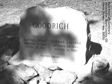 GOODRICH, CORRINE LAVERNE - Gilpin County, Colorado | CORRINE LAVERNE GOODRICH - Colorado Gravestone Photos