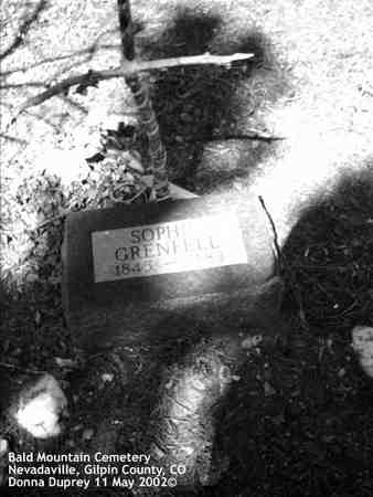 GRENFELL, SOPHIE - Gilpin County, Colorado | SOPHIE GRENFELL - Colorado Gravestone Photos